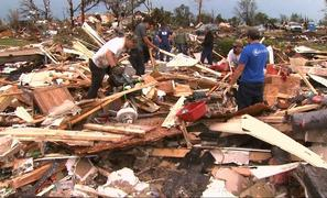 Close-Knit Okla. Community Meets Tornado Aftermath