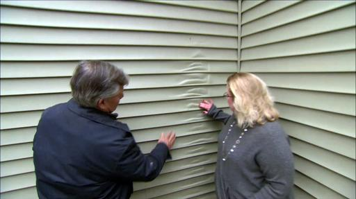 Melted Vinyl Siding, Energy Audit Video Thumbnail